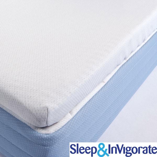 Sleep & Invigorate Latex and Foam 3-inch MattressTopper