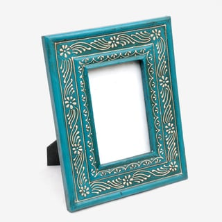Light Blue Mango Wood Photo Frame , Handmade in India