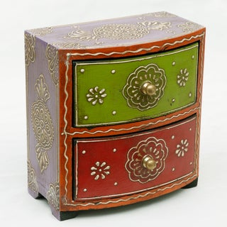 Two-Drawer Mango Wood Almirah Chest (India)