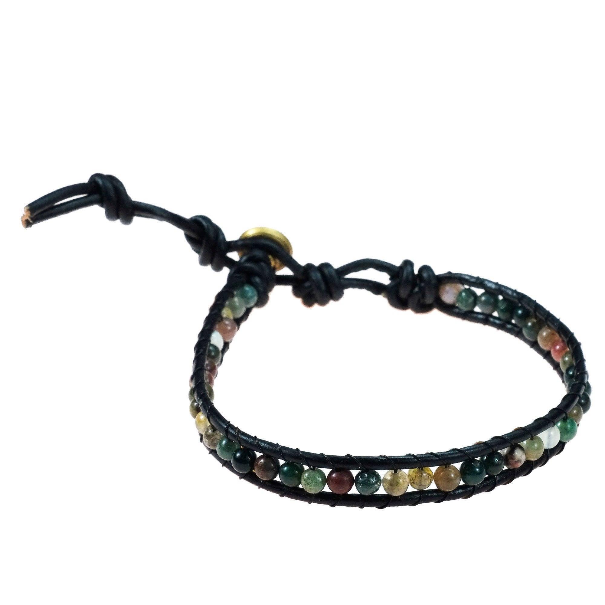 Aeravida Handmade Seven Color Jade Mystic Om Sign Strand ...
