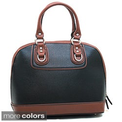 Dasein Women's Two-tone Faux Leather Satchel