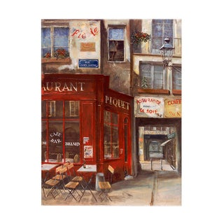Fabrice de Villeneuve 'City Streets2' Giclee Canvas Art