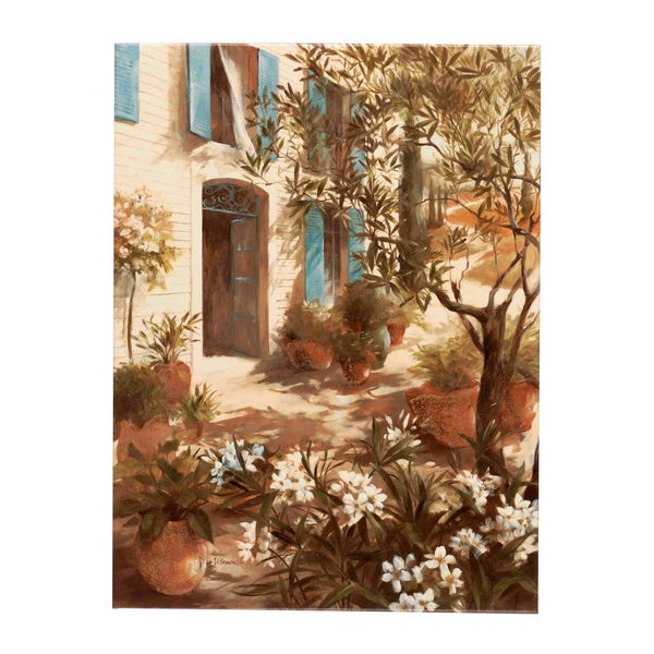Fabrice de Villeneuve 'The Green Garden' Giclee Canvas Art