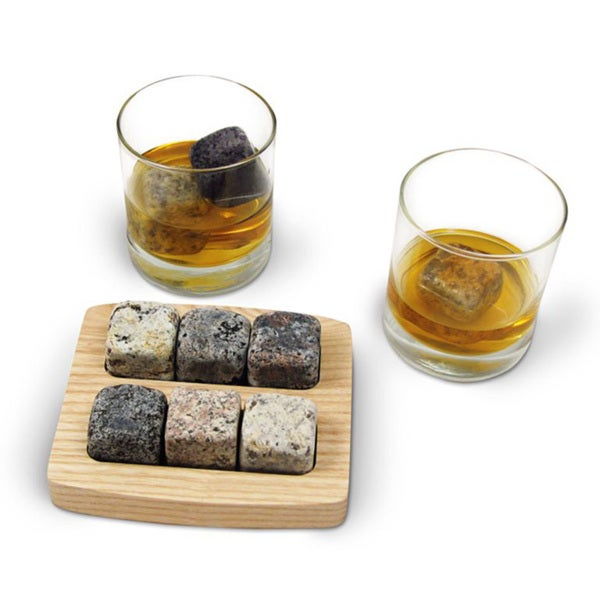 'On The Rocks' Granite Chiller Stones Drinking Set