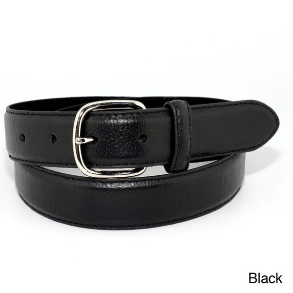Toneka Men's Dress Faux-leather Belt