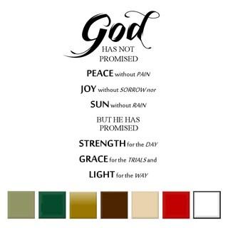 'God Has Not Promised..' Vinyl Wall Art Decal (Option: Beige)