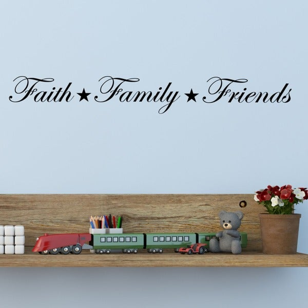 Family Friends Wall Decor : Faith family friends vinyl wall art decal free