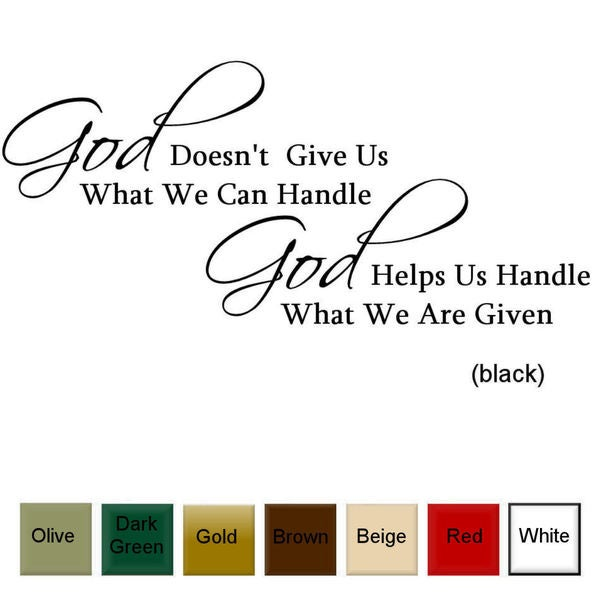 God Helps Us' Vinyl Wall Art Decal. Opens flyout.
