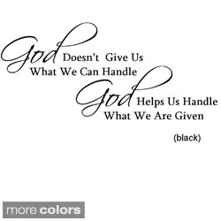 God Helps Us' Vinyl Wall Art Decal (More options available)