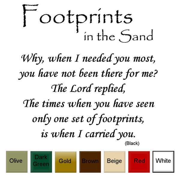 Shop \'Footprints in the Sand\' Vinyl Wall Art Decal - On Sale - Free ...
