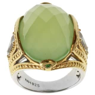 Michael Valitutti Two-tone Green Chalcedony and White Topaz Ring|https://ak1.ostkcdn.com/images/products/7482178/7482178/Michael-Valitutti-Two-tone-Green-Chalcedony-and-White-Topaz-Ring-P14927771.jpg?impolicy=medium