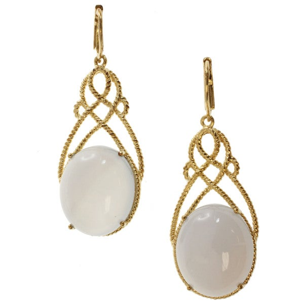 Michael Valitutti Silver Lavender Chalcedony Earrings