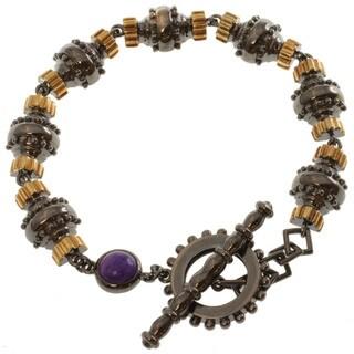 Michael Valitutti Two-tone Amethyst Bracelet
