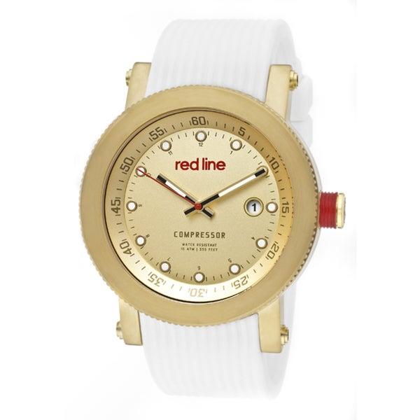 Red Line Men's 'Compressor' White Textured Silicone Watch