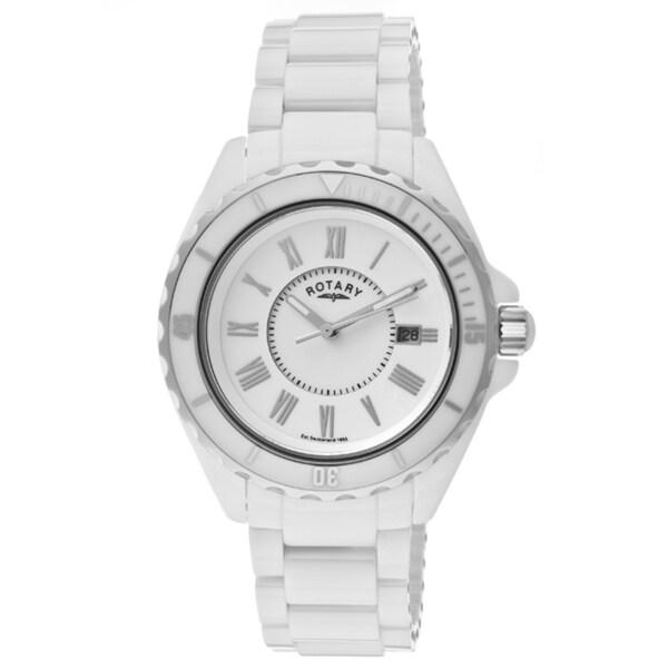 Rotary Men's White Ceramic Watch
