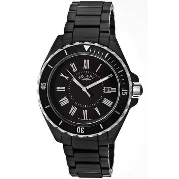 Rotary Men's Black Ceramic Watch