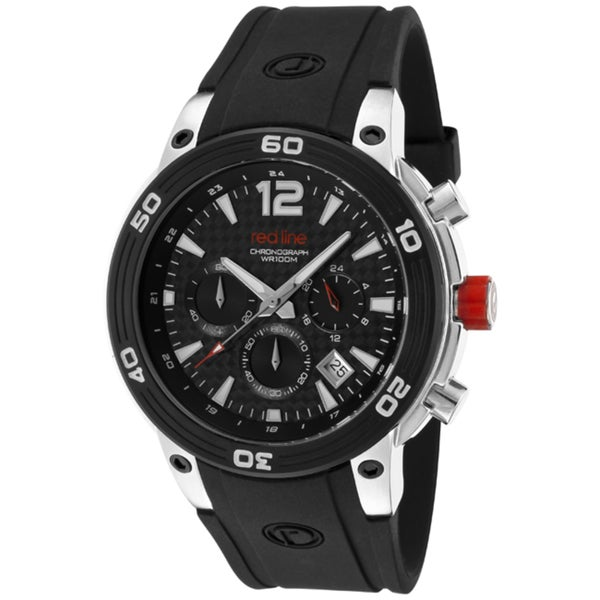 Red Line Men's 'Mission' Black Silicone Watch