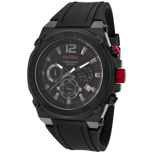 Red Line Men's 'Activator' Black Silicone Watch