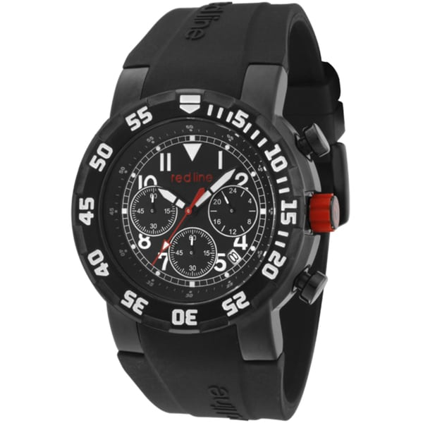 Red Line Men's 'RPM' Black Silicone Watch