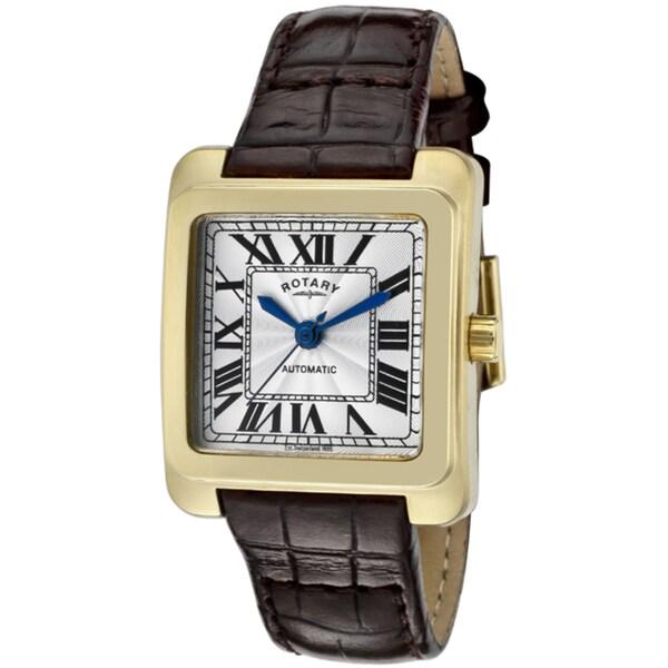Rotary Women's Dark Brown Leather Watch