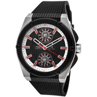 Rotary Men's 'Evolution TZ3' Black Textured Rubber Watch