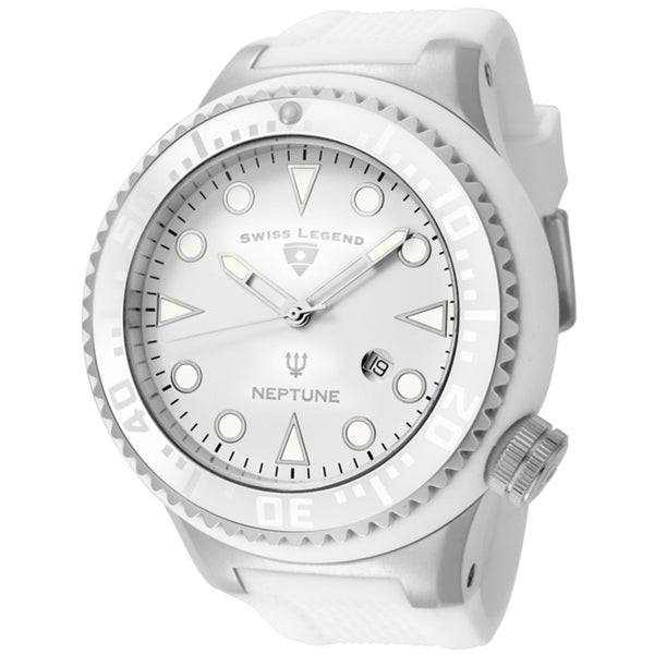 Swiss Legend Men's 'Neptune' White Silicone Watch