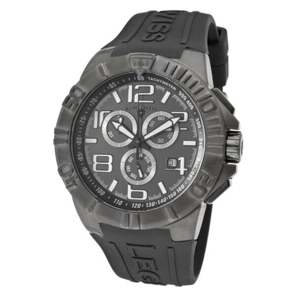 Swiss Legend Men's 'Super Shield' Grey Silicone Watch
