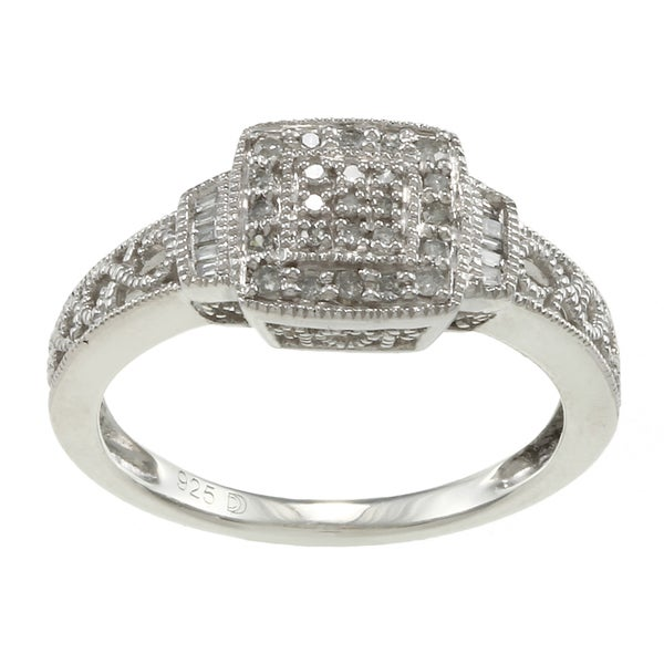 Sterling Silver 1/5ct TDW Diamond Promise Ring  By Ever One (H-I, I2-I3)