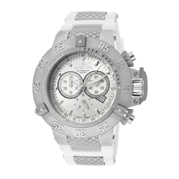 Invicta Men's 'Subaqua/Noma III' White Polyurethane Watch