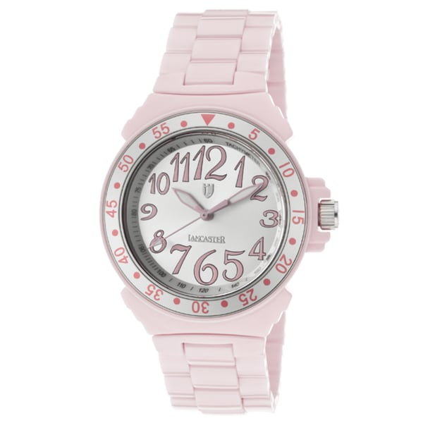 Lancaster Italy Women's Ceramik Pink High-tech Ceramic Watch