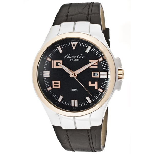 Kenneth Cole Men's Black Leather Watch