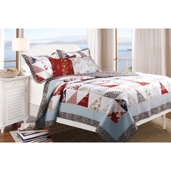 Greenland Home Fashions Harbor Sky 5-piece Quilt Set
