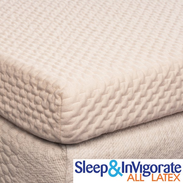 Sleep & Invigorate All Natural Latex 2-inch Mattress Topper