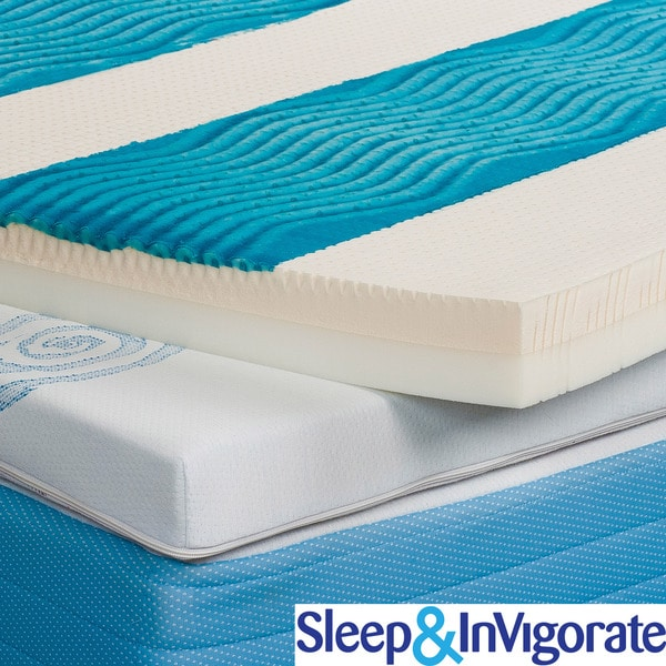 Shop Sleep Amp Invigorate Active Cool Gel 3 Inch Mattress