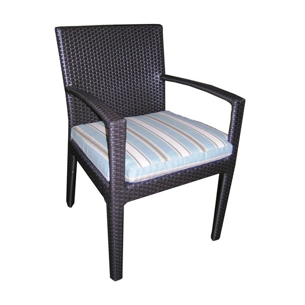 Maryland Collection Wicker Outdoor Dining Chair with Cushion
