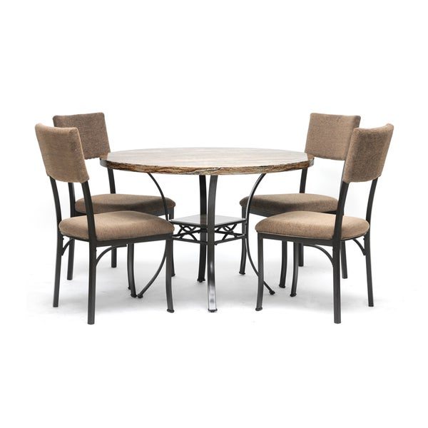 Rhea Brown 5-Piece Modern Dining Set