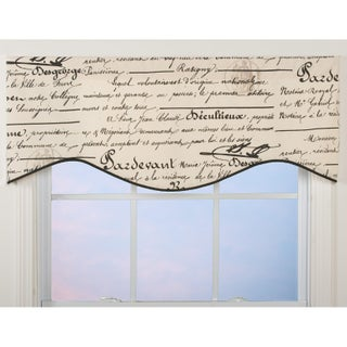 La Ville French Script Shaped Valance (2 options available)