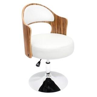 Zebra Bent Wood Accent Chair