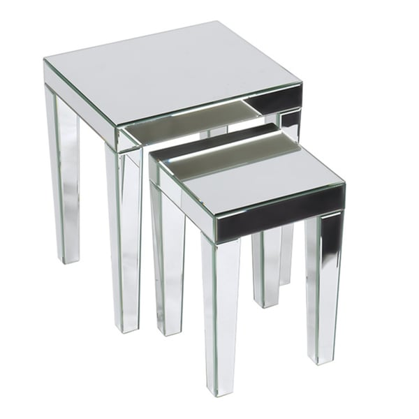 Good Ave Six Reflections 2 Piece Nesting Table Set