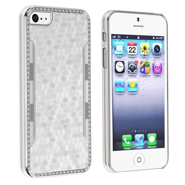 INSTEN Grey Snake Leather Case Cover for Apple iPhone 5