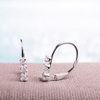 Link to Miadora Sterling Silver 1/4ct TDW Diamond Leverback Earrings Similar Items in Earrings