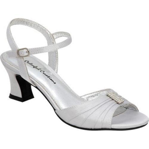 Women's Colorful Creations Minnie Silver Satin