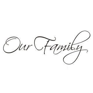 Vinyl Attraction 'Our Family' XL Vinyl Wall Art