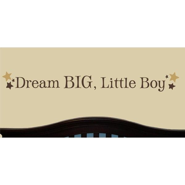 Vinyl Attraction 'Dream Big, Little Boy' with Stars Vinyl Wall Art