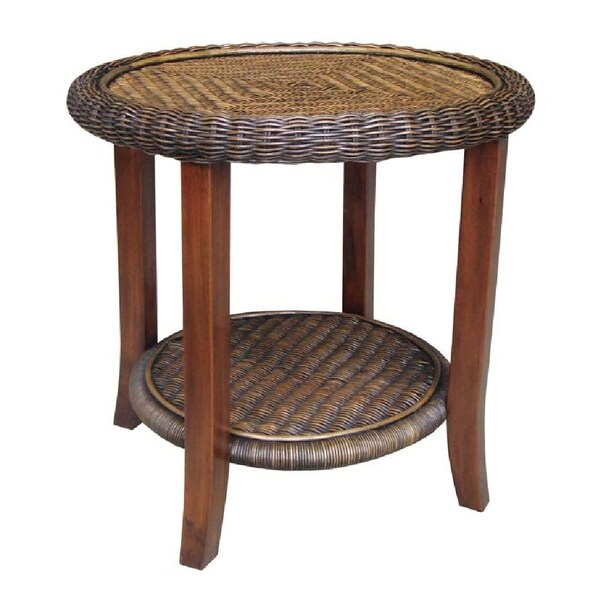 Rattan Living Round End Table