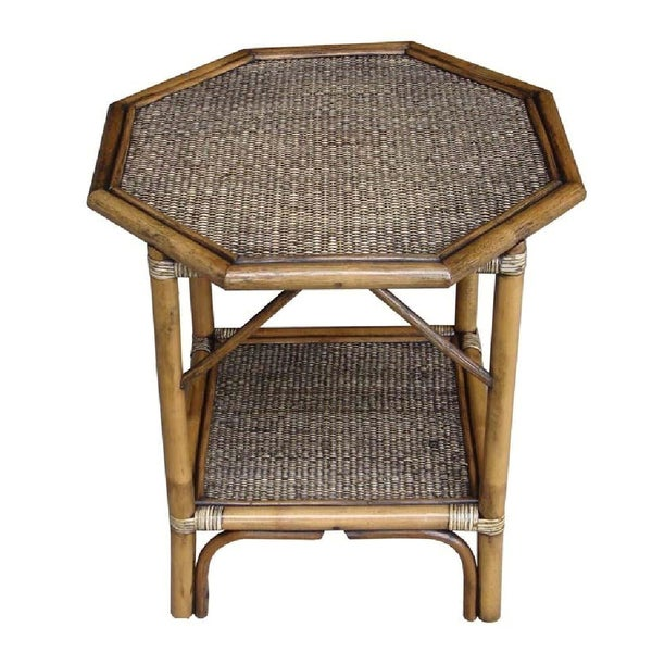 Rattan Living Octogan Accent Table