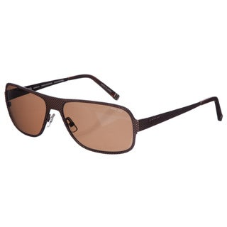 Tumi Unisex 'Brooklyn' Brown Stainless Steel Sunglasses