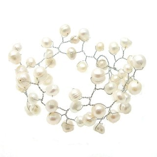 Floating Ray of White Freshwater Pearl Bracelet (Philippines)