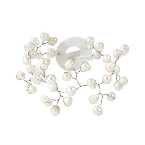 Handmade Floating Ray of White Freshwater Pearl Bracelet (Thailand)