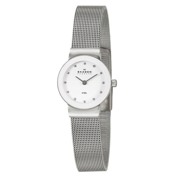Skagen Women's Stainless Steel Mesh Crystal Watch